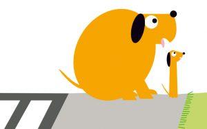 Gros chien Petit chien