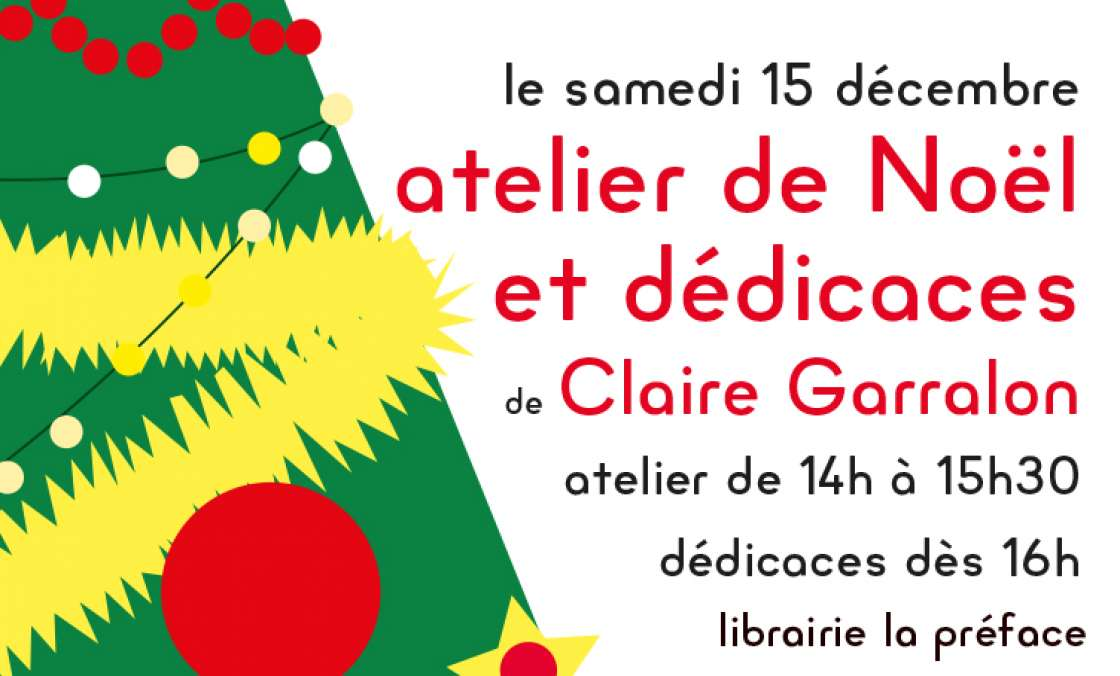 Atelier de Noël avec Claire Garralon