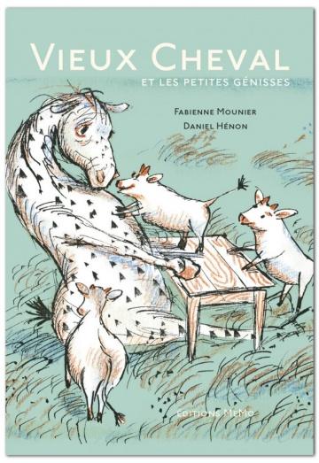 Vieux Cheval et les petites génisses