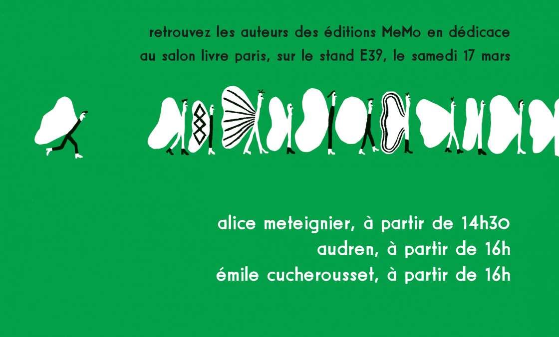 MeMo au salon Livre Paris 2018