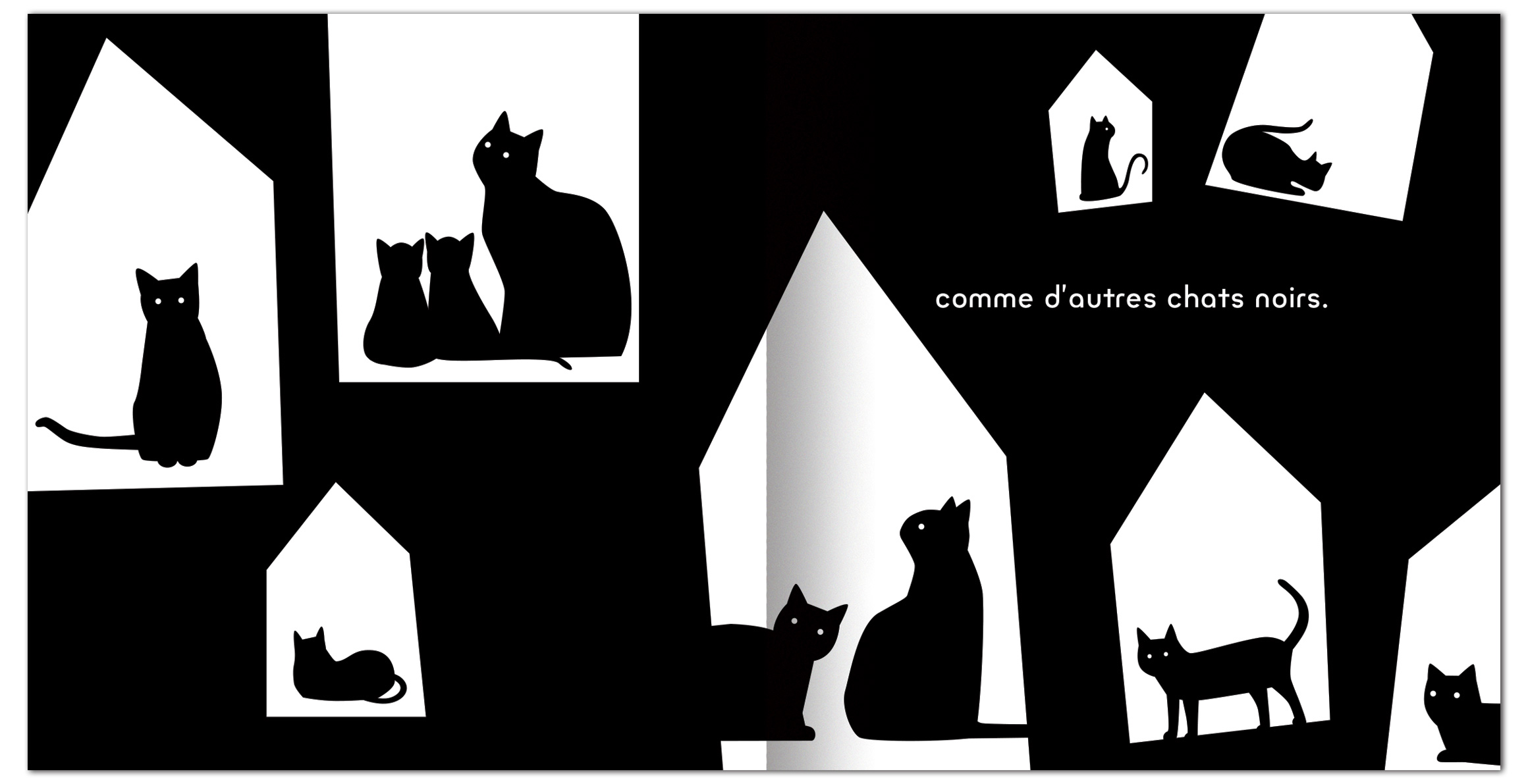 Editions Memo Chat Noir Chat Blanc