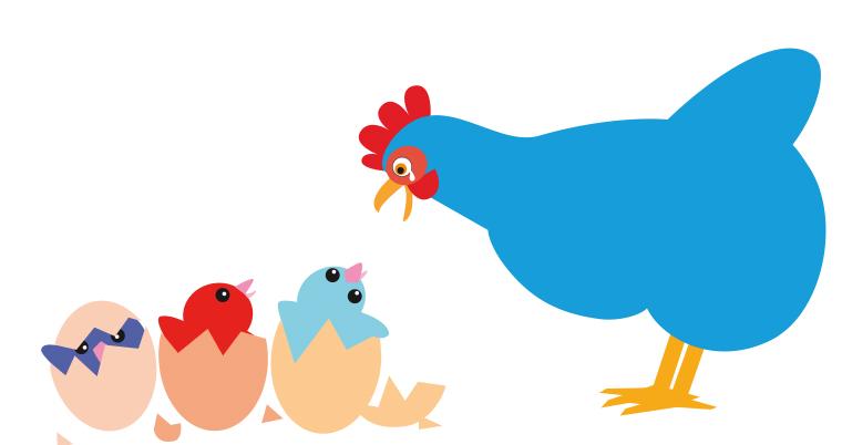 Poule bleue, de Claire Garralon, offert dans l'Ain.